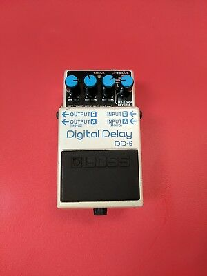 Boss DD6 Digital Stereo Delay Pedal with Tap Tempo, Reverse, Echo, Warp and Hold
