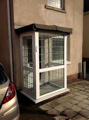 Used uPVC Porch With Leaded Glass Buyer To Collect
