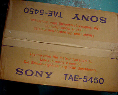 Sony TAE-5450 Preamplifier - BRAND NEW NOS FACTORY SEALED