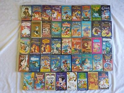 Walt Disney Vhs Film Job Lot / Collection Of 44 Videos - Good Condition - Tested