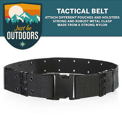 Black Tactical Belt / Heavy Duty Military Webbing belt / Police belt / Army belt