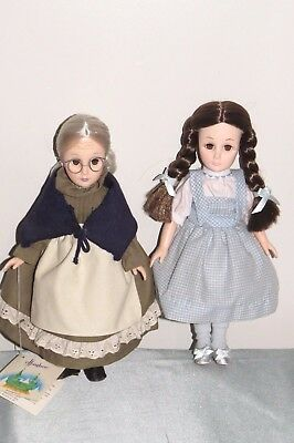 VINTAGE  EFFANBEE WIZARD OF OZ Dolls Dorothy and Auntie Em - 1980s