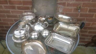 A job lot of 16 vintage silver plated items.8 kgs in weight