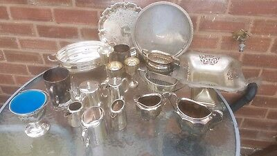 A job lot of 19 vintage silver plated items.5kgs in weight