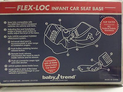 Baby Trend Flex-Loc Car Seat Base Black CB63100