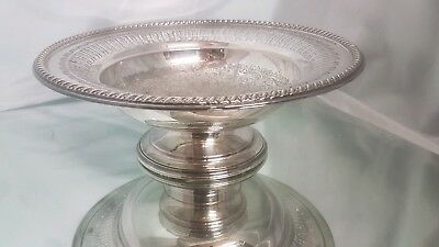 A very elegant vintage silver plated fruit dish with beautiful engraved patterns