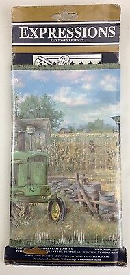 Tractor Trailer Farming Equipment Room Boarder Wallpaper Expressions 5 Yards New