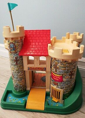 Vintage 1974 Fisher Price Little People Play Family Castle 0993 Only Play Set