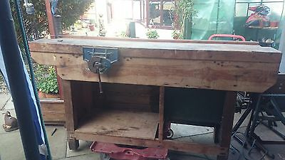 Wood Work Bench Genuine Record Bench Vice Tool Well 6 Drawers Nuts & Bolts