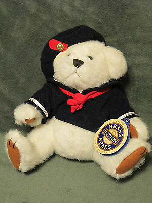 """NWT 1996 TAYLOR the PICKFORD BRASS BUTTON BEAR of HAPPINESS JOINTED 11"""" TALL VTG"""