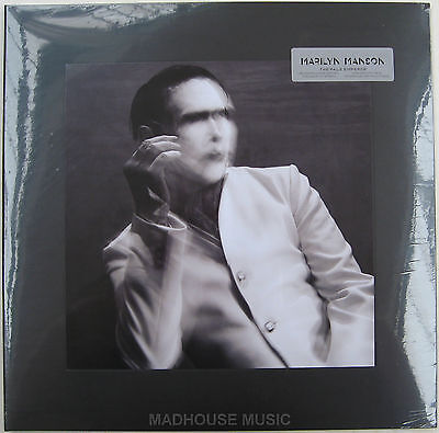 MARILYN MANSON LP x 2 The Pale Emperor 180 Gram WHITE Vinyl + 3 PRINTS + Mp3s