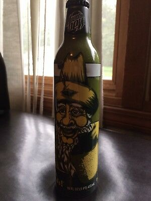 Mountain Dew Green Label Art Unopened Bill Hilly Aluminum Bottle