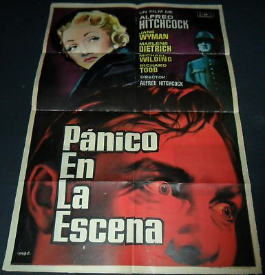 1950 Stage Fright ORGINAL SPAIN POSTER Alfred Hitchcock