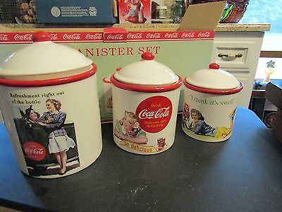 Coca-Cola Coca Cola Canister Set Advertising Set NEW in Box