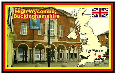 High Wycombe, Uk - Souvenir Novelty Fridge Magnet - New - Gifts / Sights / Flags