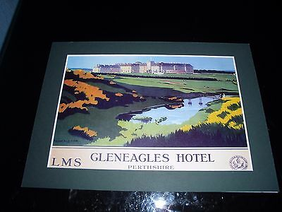 Gleneagles Golf Mounted Print