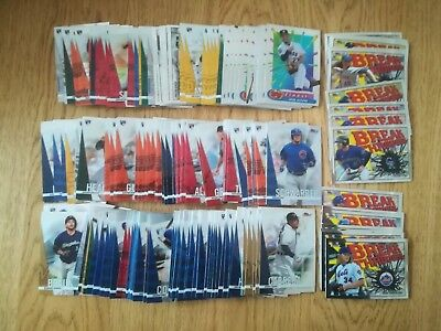 2017 Topps Finest Baseball Trading Cards Lot Of Over 200 Cards Inserts & Rookies