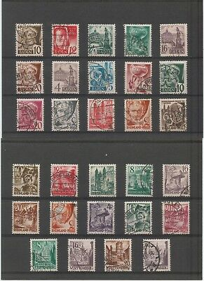 OCCUPATION FRENCH ZONE - collection of used stamps value 27 €