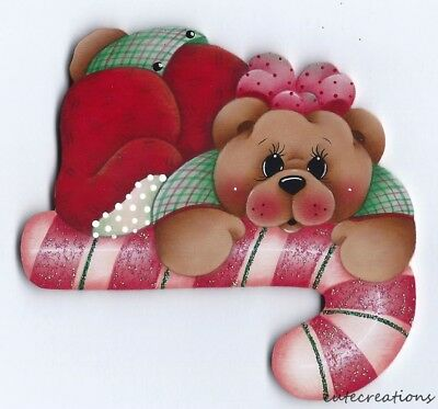 HP TEDDY BEAR Candy Cane FRIDGE MAGNET