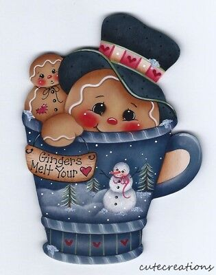 HP GINGERBREAD Teacup FRIDGE MAGNET