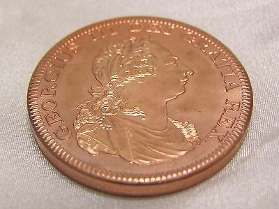 RETRO PATTERN PROOF CROWN MEDALLIC COIN of GEORGE III 1798