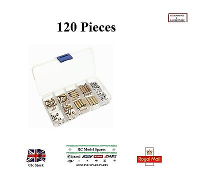 120Pcs PCB M3 Hex Male-Female Threaded Brass Spacer Standoffs Screw Nuts Set Box