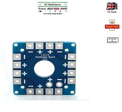 ESC PCB Connection Power Battery Distribution Board CRIUS V 1.0 2016 Blue