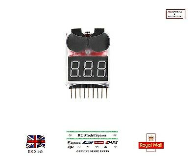 Voltage Buzzer Alarm Indicator for 1-8S Lipo LiFe LiMn Li-ion Battery Monitor RC