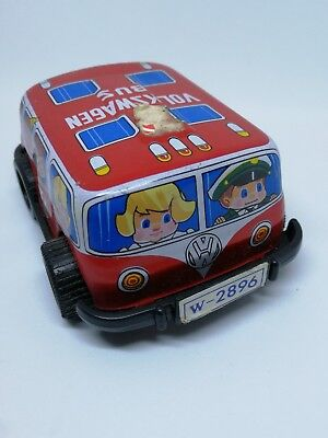 Made In Japan Vintage Tin Volkswagen VW Bus Action Toy Child Kid Vehicle Auto