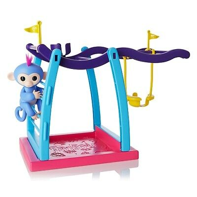 WowWee Fingerlings Playset - Monkey Bar/Swing Playground with 1 Fingerlings Baby