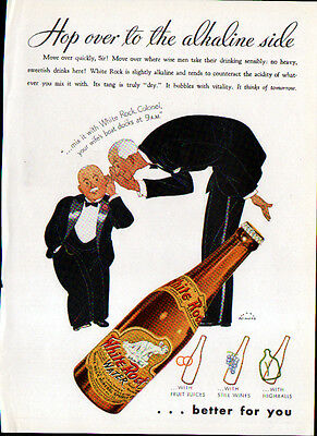 1935 White Rock Water Ads- Alkaline   The Butler's Pantry