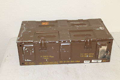 Vintage US Military Issue 81MM Cannon M821 Empty Metal Ammunition Ammo Crate Box