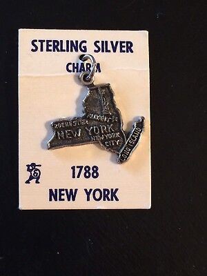 New York Sterling Silver Charm