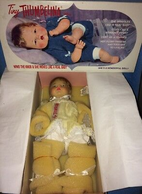 Mattel 2001---Tiny Thumbelina Baby Doll---1960s Collectible Concepts---*NEW*