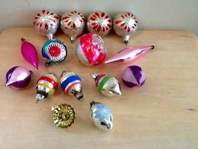 Assortment Of Vintage Glass Christmas Tree Ornaments