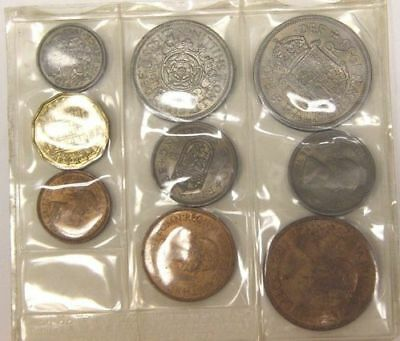 Lot of 9 Vintage 1950s British Coins