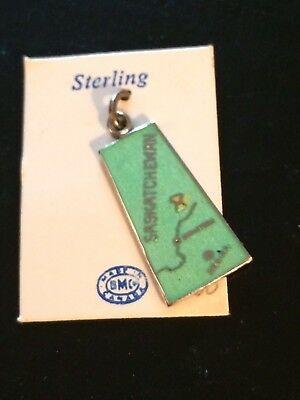Saskatchewan Green Enamel Sterling BMC Charm