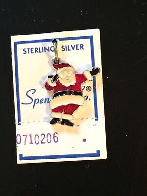 Spencer Co. SANTA Enamel Sterling Silver Charm