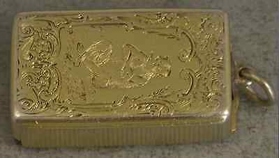 Antique Solid Silver Vesta Case, Rawlings And Summers, One Of A Kind,