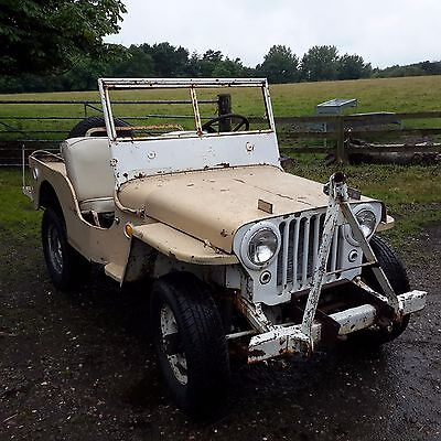 Willys jeep 1946 cj2a jeep classic car barn find military vehicle
