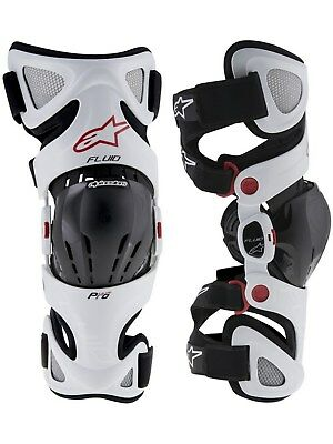 Alpinestars White 2016 Fluid Pro Pair of MX Knee Brace