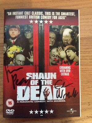 Signed Shaun Of The Dead DVD By Edgar Wright And Simon Pegg