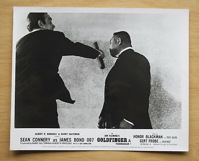 075 Goldfinger 1968 British Front Of House Still Lobby Card James Bond 02