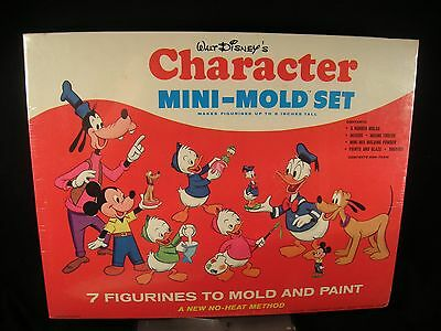 Rare Factory Sealed 1966 Walt Disney's Character Mini-Mold Set Makes 7 Figures