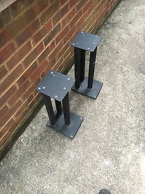 Pair of Speaker Stands in Black High Quality Acoustic sand filled