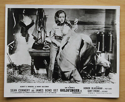 079 Goldfinger 1968 British Front Of House Still Lobby Card James Bond 06