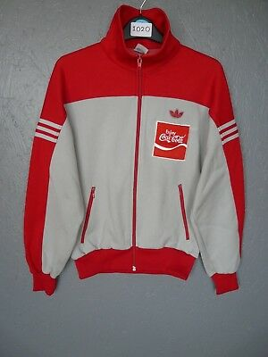 Vintage Adidas Track Top Jacket Kids Coca Cola Customised Descente Sz 2 (I020)