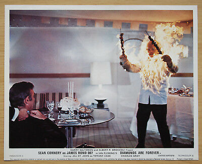 080 Diamonds Are Forever 1971 British Front Of House Still Lobby Card