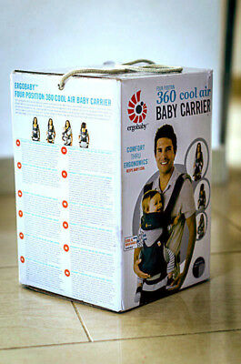 Ergobaby 360 Carrier 4 Position Ergo Baby COOL AIR MESH BABY CARBON GREY. New.