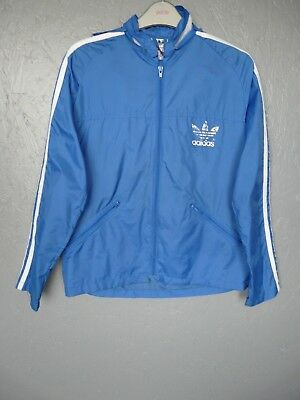 "Vintage Adidas Windbreaker Jacket Kids Sz D164 5'5"" (I023)"